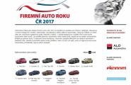 Spuštěno internetové hlasování pro Firemní auto roku 2017